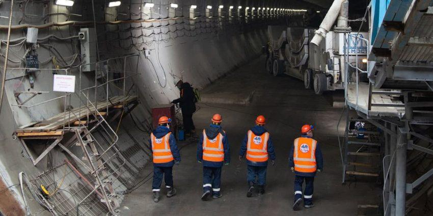 Андрей Бочкарев: На станции «Терехово» завершаются монолитные работы