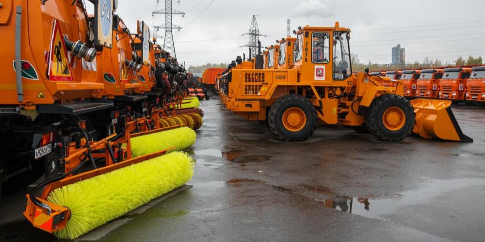 Коммунальная техника в Москве полностью готова к осенне-зимнему сезону